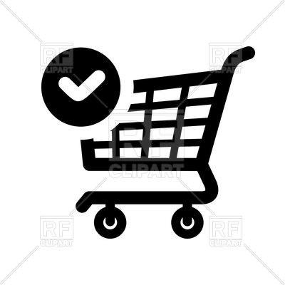 400x400 Shopping Icon. Shopping Cart. Vector Image Vector Artwork Of