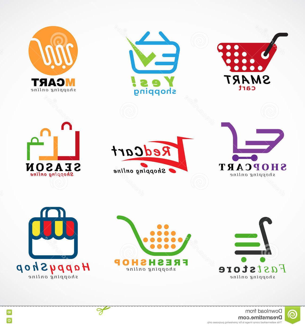 1300x1390 Top 10 Shopping Cart Logo Bags Vector Set Graphic Design Image