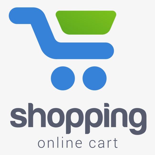 650x650 Vector Logo Blue Corporate Logo Design, Shopping Cart, Blue, Eps