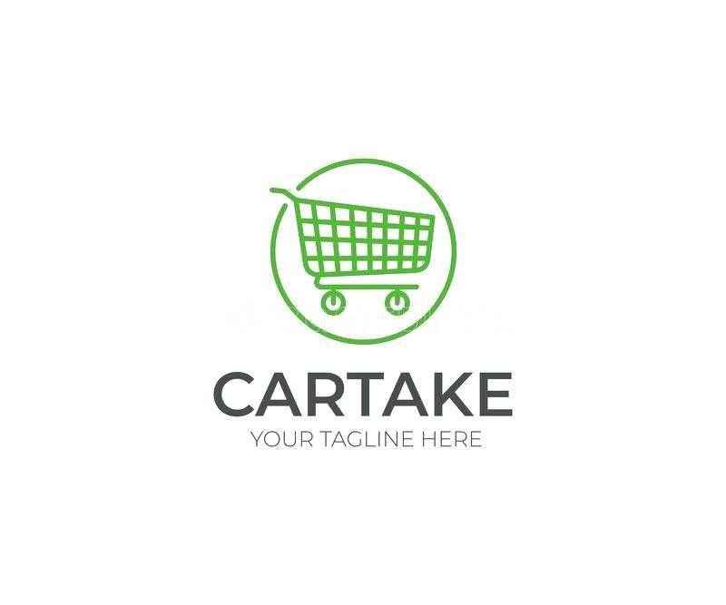 800x667 Download Shopping Cart Logo Template Trolley Line Vector Design