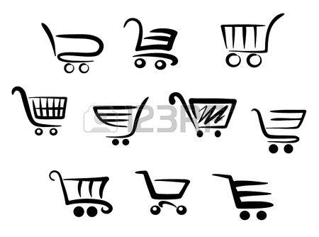 450x334 Iconos Cesta De La Compra Fijado Para Proyectos Empresariales Y El