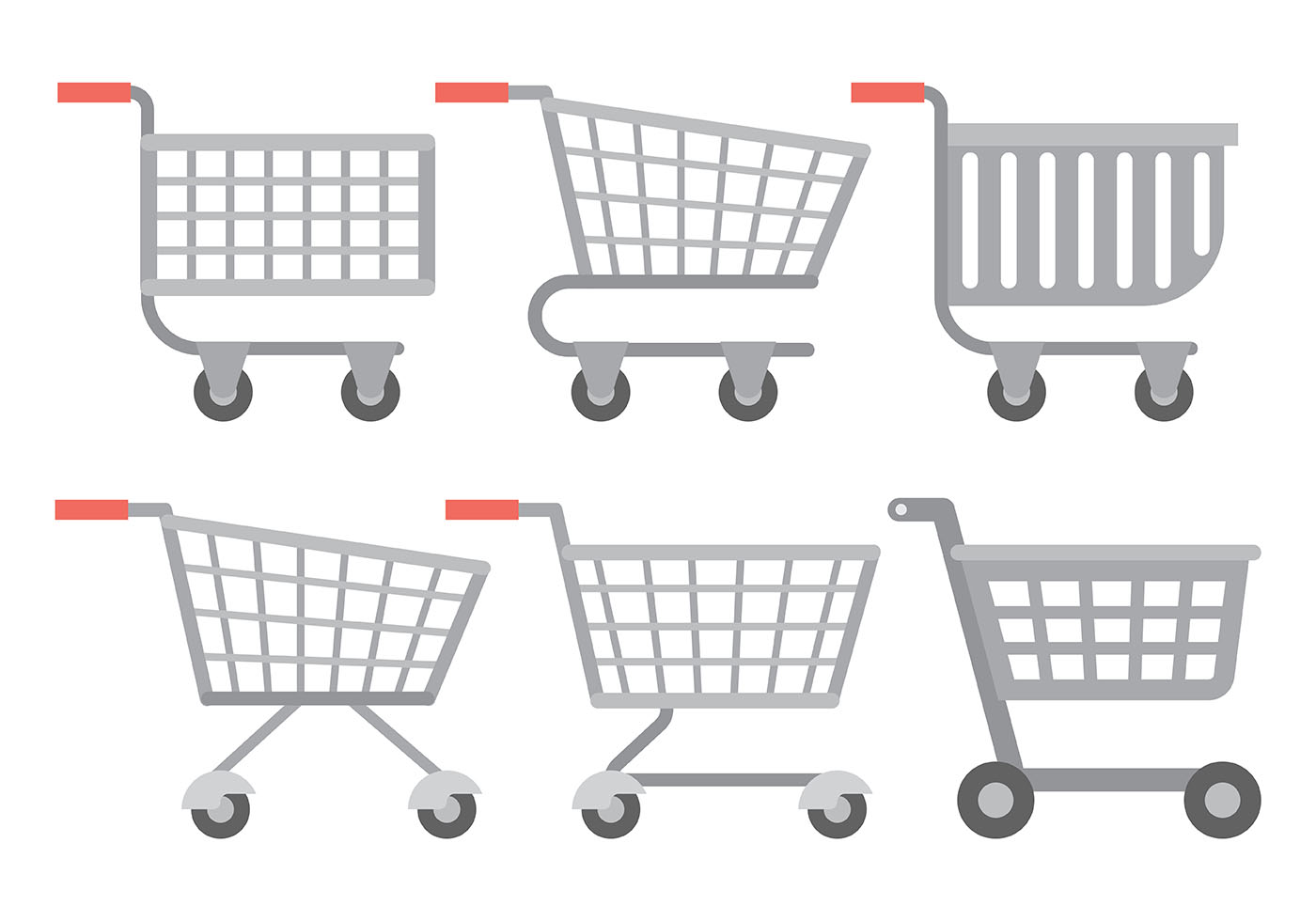 1400x980 Shopping Cart Free Vector Art