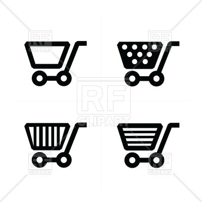 400x400 Shopping Cart Icons Set