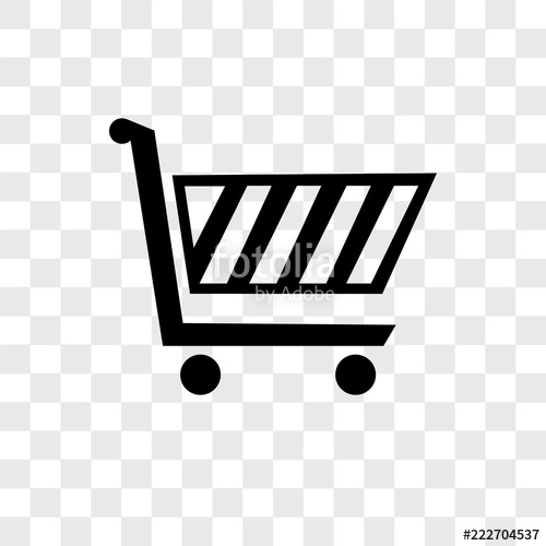 500x500 Shopping Cart Vector Icon Isolated On Transparent Background