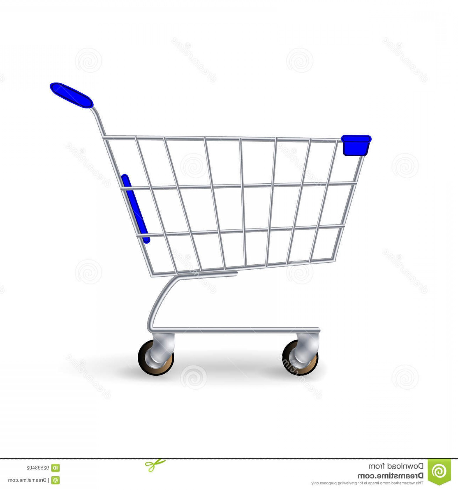 1560x1668 Stock Illustration Supermarket Shopping Cart Vector Empty Classic