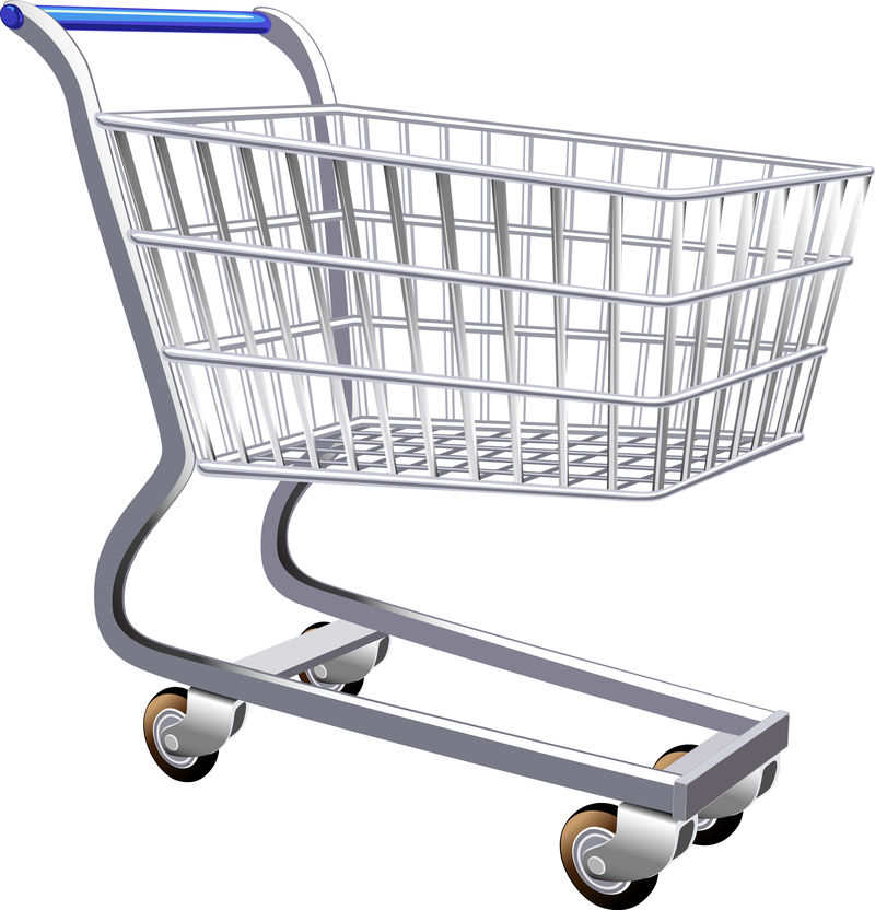 800x832 Supermarket Shopping Cart Vector