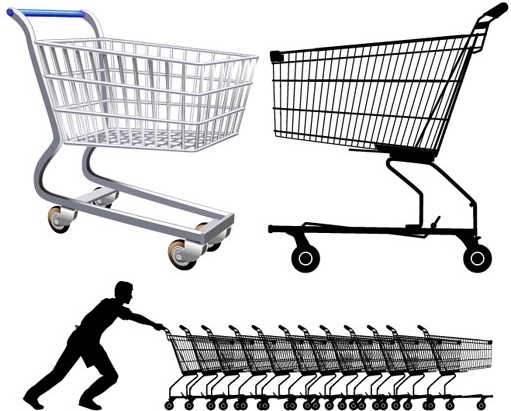 511x411 Supermarket Shopping Cart Vector Free Vector In Encapsulated