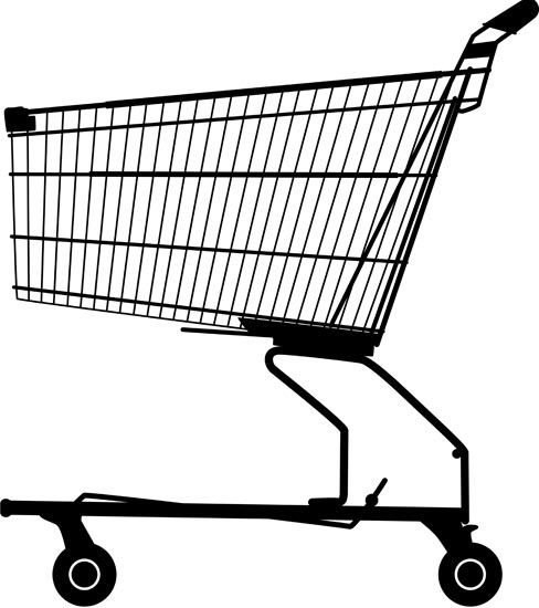 488x550 Shopping Trolley Vector Free