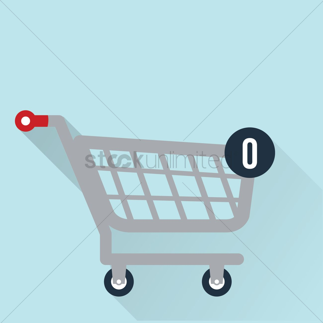 1300x1300 Empty Shopping Cart Vector Image