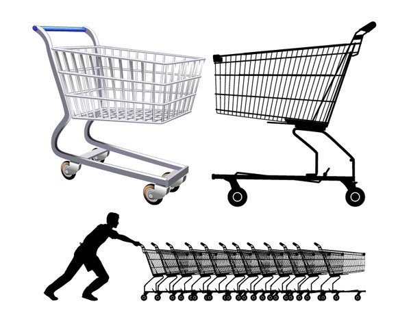 600x479 Free Supermarket Shopping Cart Psd Files, Vectors Amp Graphics