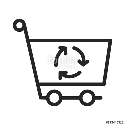 500x500 Refresh Shopping Cart Vector Icon Stock Image And Royalty Free