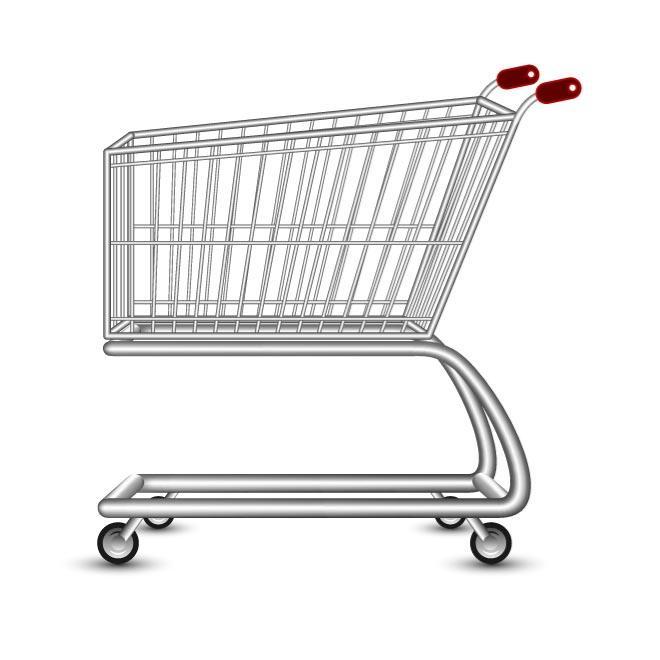 660x660 Shopping Cart Vector Image