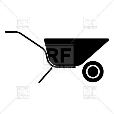 400x400 Shopping Cart Vector Free Wheelbarrow Cart Black Color Icon