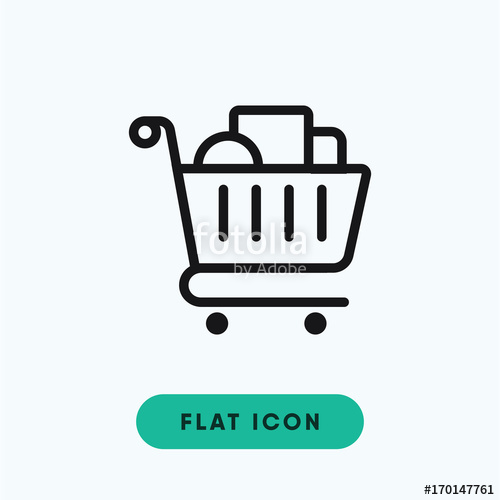 500x500 Shopping Cart Vector Icon Stock Image And Royalty Free Vector