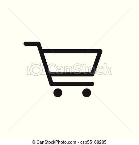 450x470 Shopping Cart Vector Icon. Flat Illustration.
