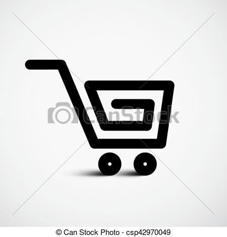 450x470 Shopping Cart Vector Icon.