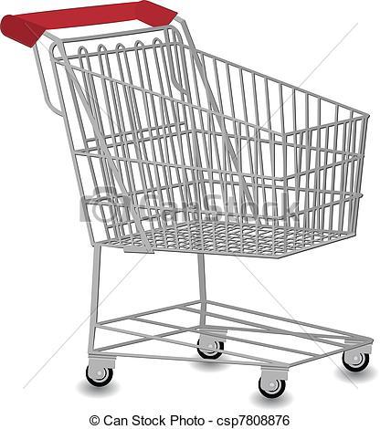416x470 Shopping Cart Vector Illustration .