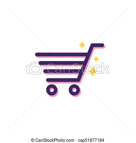 450x470 Shopping Cart. Vector Illustration. Shopping Cart Line Icon With