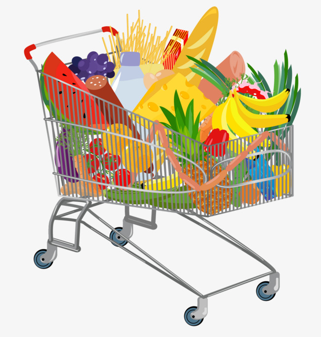 650x683 Supermarket Shopping, Shopping Cart, Vector Shopping Cart