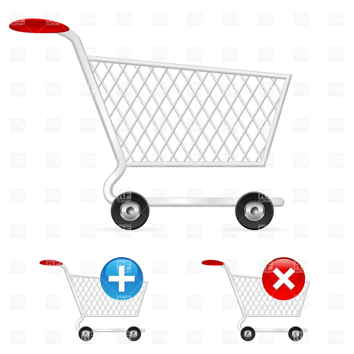 1200x1200 Empty Shopping Cart (Trolley) Vector Image Vector Artwork Of