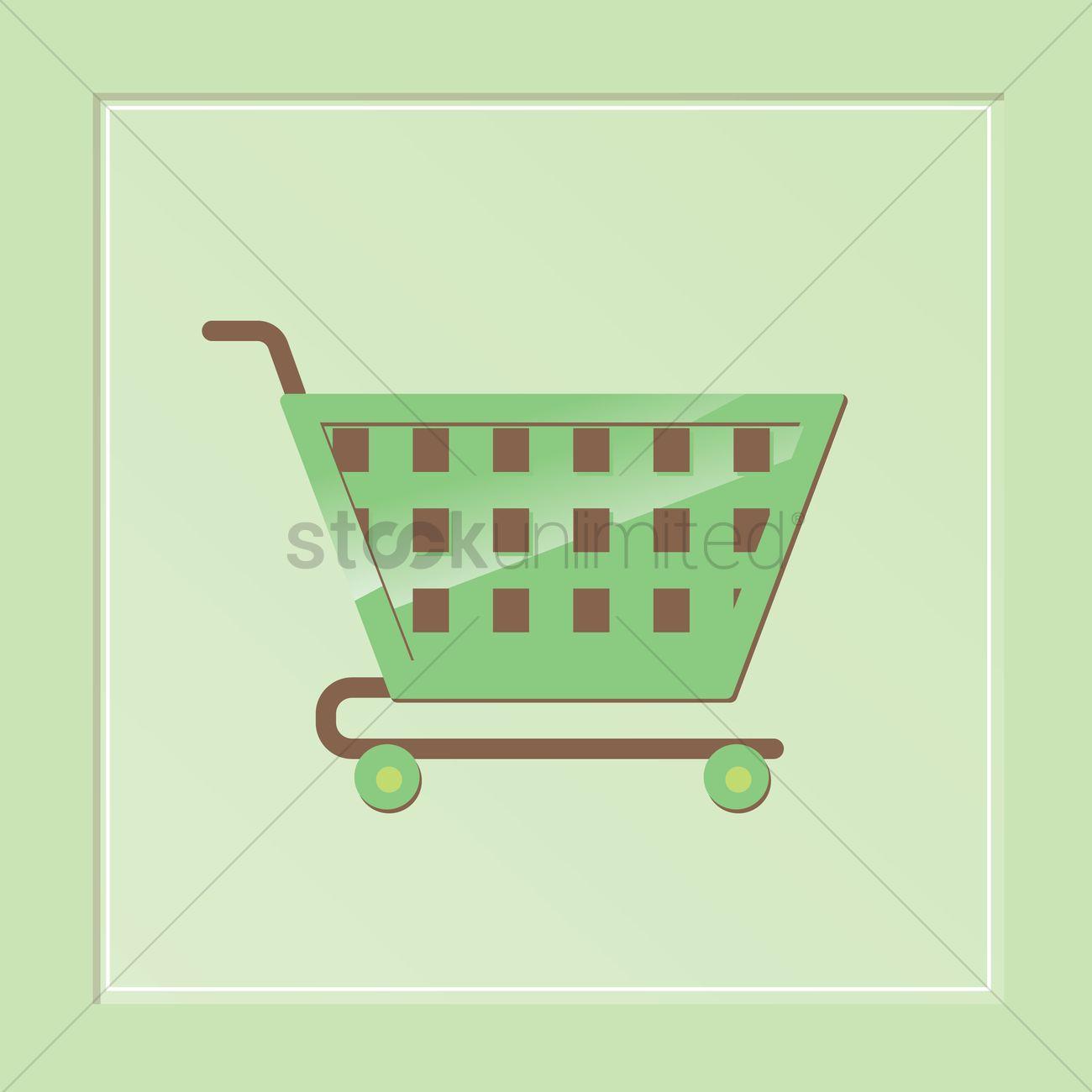 1300x1300 Free A Shopping Cart Vector Image