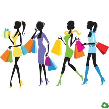 350x350 Free Vector Shopping Vector Fashion Shopping Girls