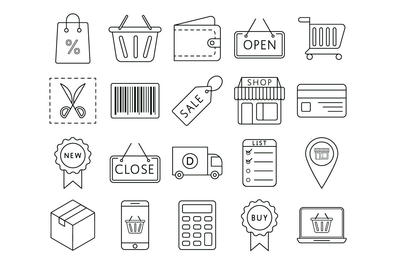 1440x960 Shopping Vector Free Icon Set