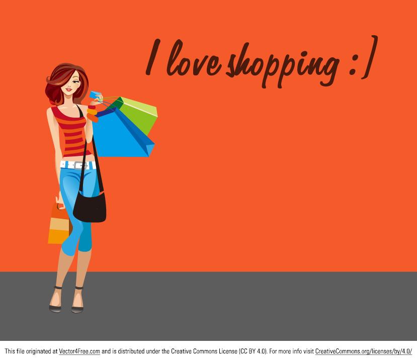 829x718 Shopping Woman