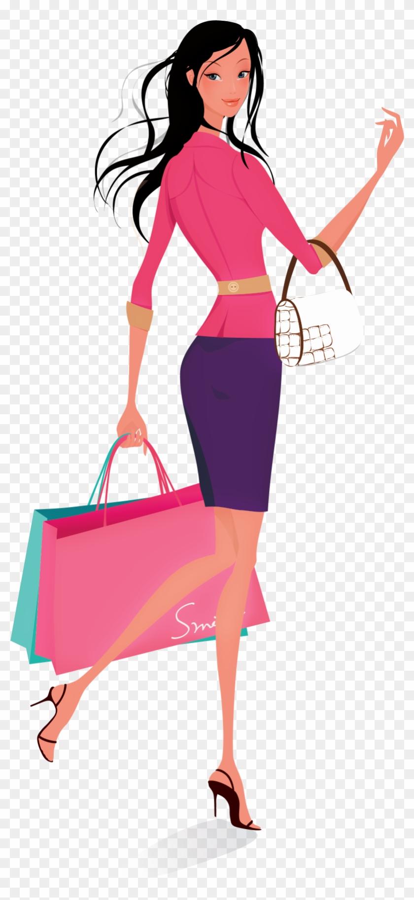 840x1825 Shopping Women Vector