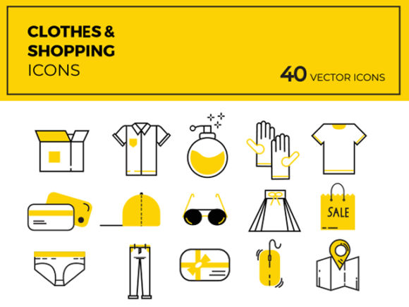 580x435 40 Cloths Amp Shopping Vector Icons