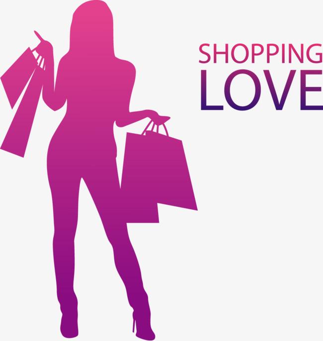 650x686 Vector Illustration Shopping Woman, Shopping Vector, Woman Vector