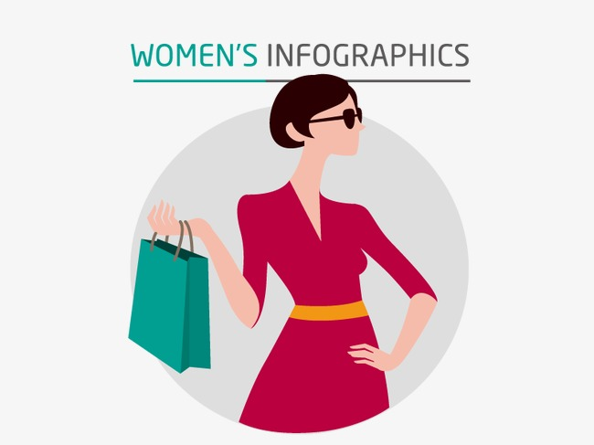 650x487 Women Shopping Vector, Shopping Vector, Pretty, Hd Png And Vector