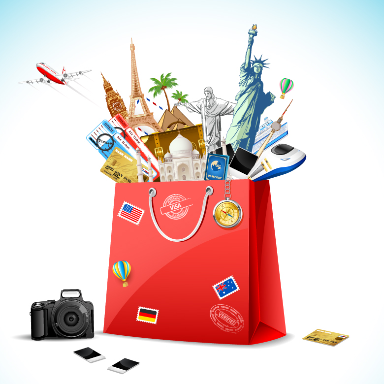 780x780 Famous Monument Shopping Bag Free Vector Graphic Download