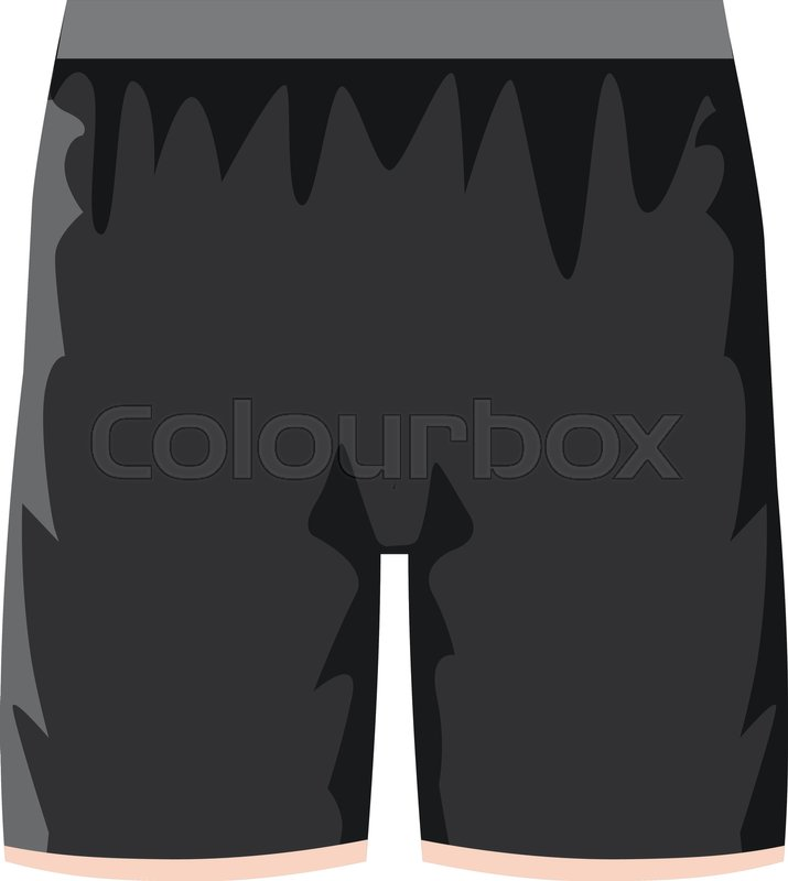 715x800 Black Soccer Shorts Icon. Cartoon Illustration Of Black Soccer