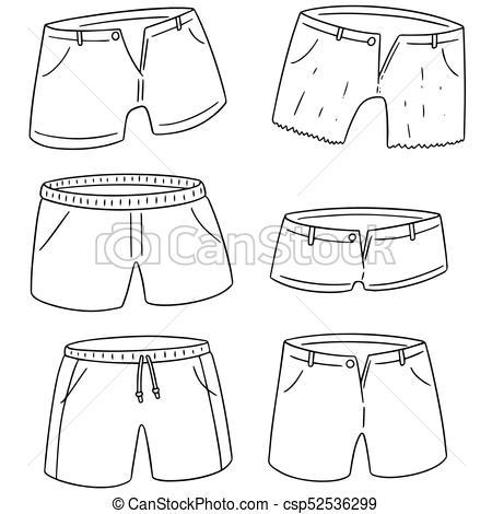 450x470 Vector Set Of Shorts.