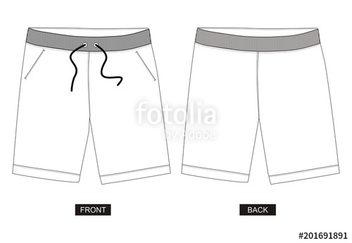 500x345 Design Vector Template Shorts Collection For Men Stock Image And
