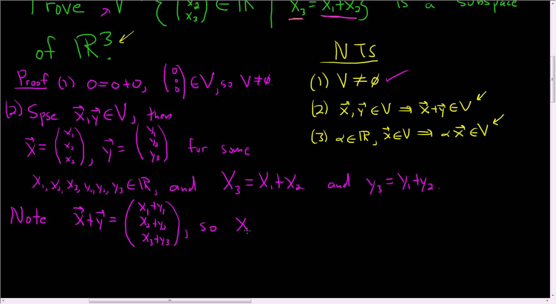 1776x970 How To Prove A Set Is A Subspace Of A Vector Space
