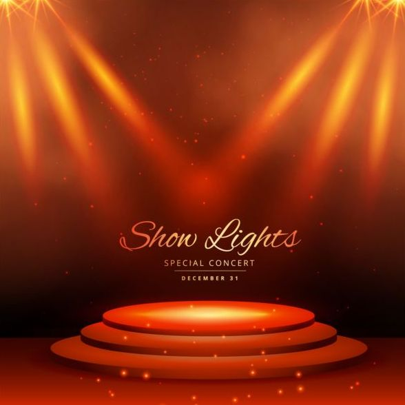 588x588 Show Lights With Special Concert Background Vector 07 Free Download
