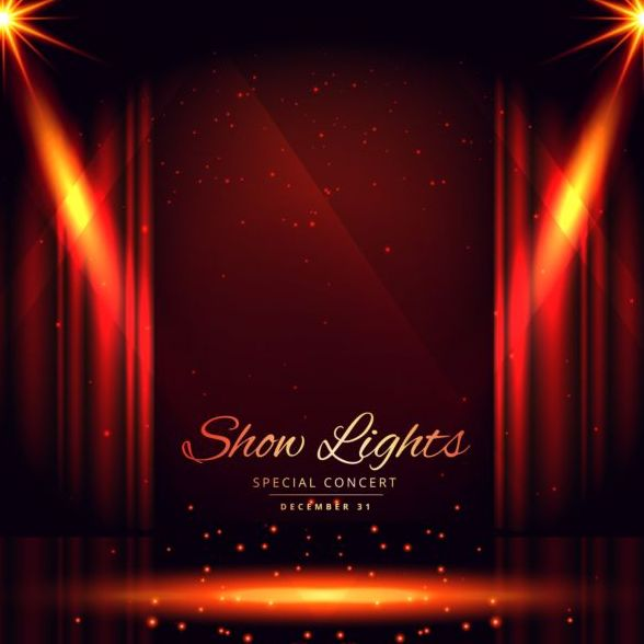 588x588 Show Lights With Special Concert Background Vector 08 Free Download