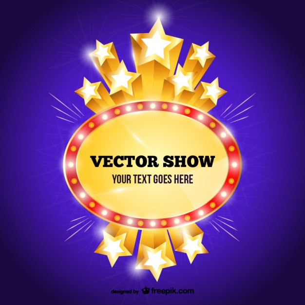 626x626 Show Sign Template Vector Free Download
