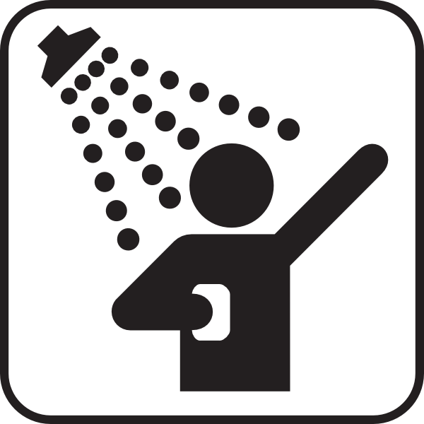 600x600 Collection Of Shower Head Clipart Black And White High