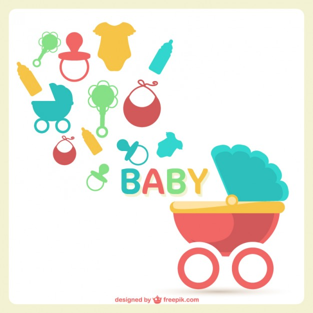 626x626 Baby Shower Vector Free Download