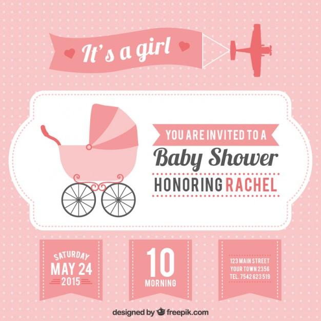 626x626 Baby Shower Invitation Vectors Download Free Vector Art
