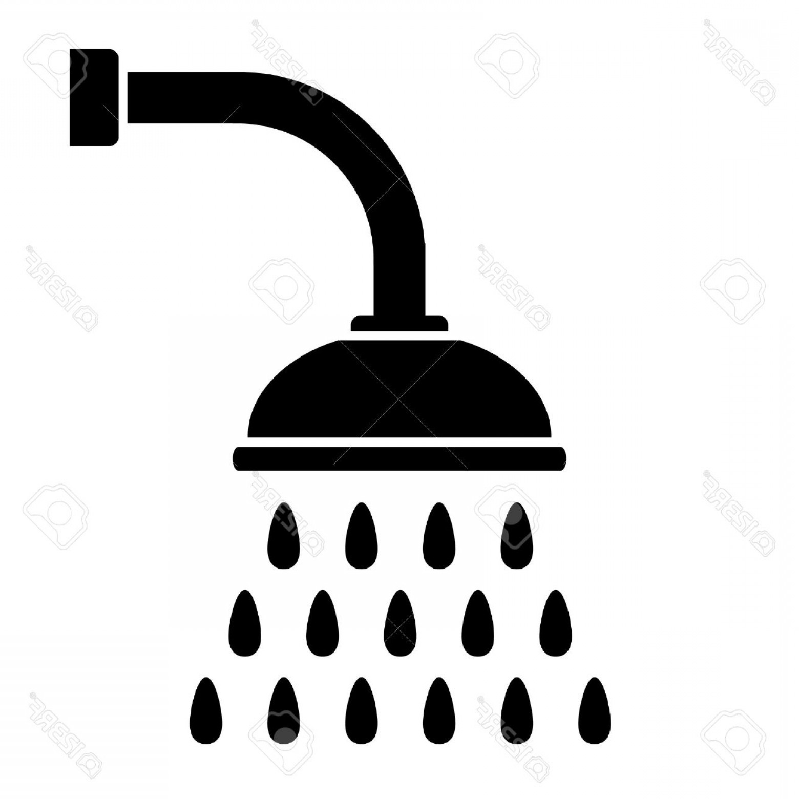 1560x1560 Photostock Vector Shower Icon On White Background Vector