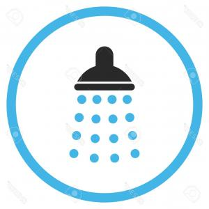 300x300 Photostock Vector Shower Vector Icon Style Is Bicolor Flat Rounded