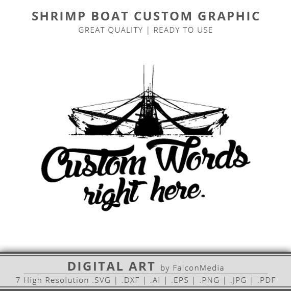 570x570 Shrimp Boat Svg Custom Order Shrimping Boat Custom Shirt Etsy