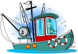 300x207 Fishing Boat Clipart Shrimp Boat 3533371