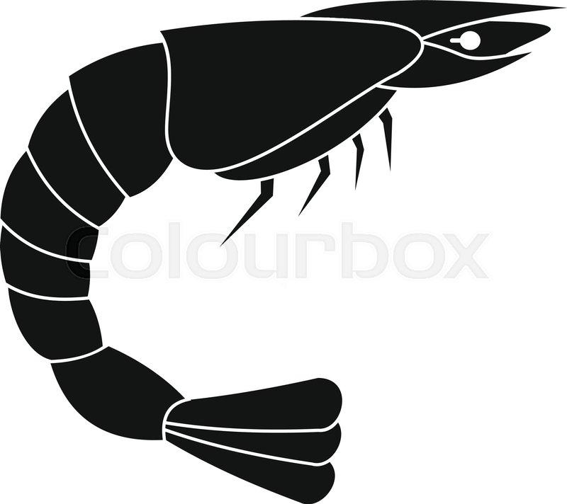 800x712 Fresh Sea Shrimp Icon. Simple Illustration Of Fresh Sea Shrimp