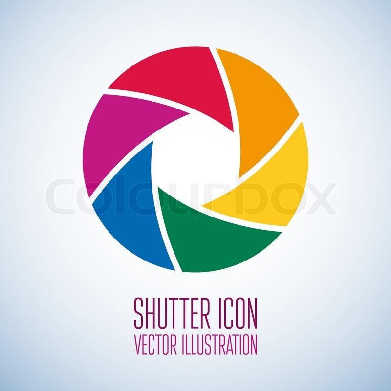 800x800 Colorful Camera Shutter. Vector Illustration Stock Vector
