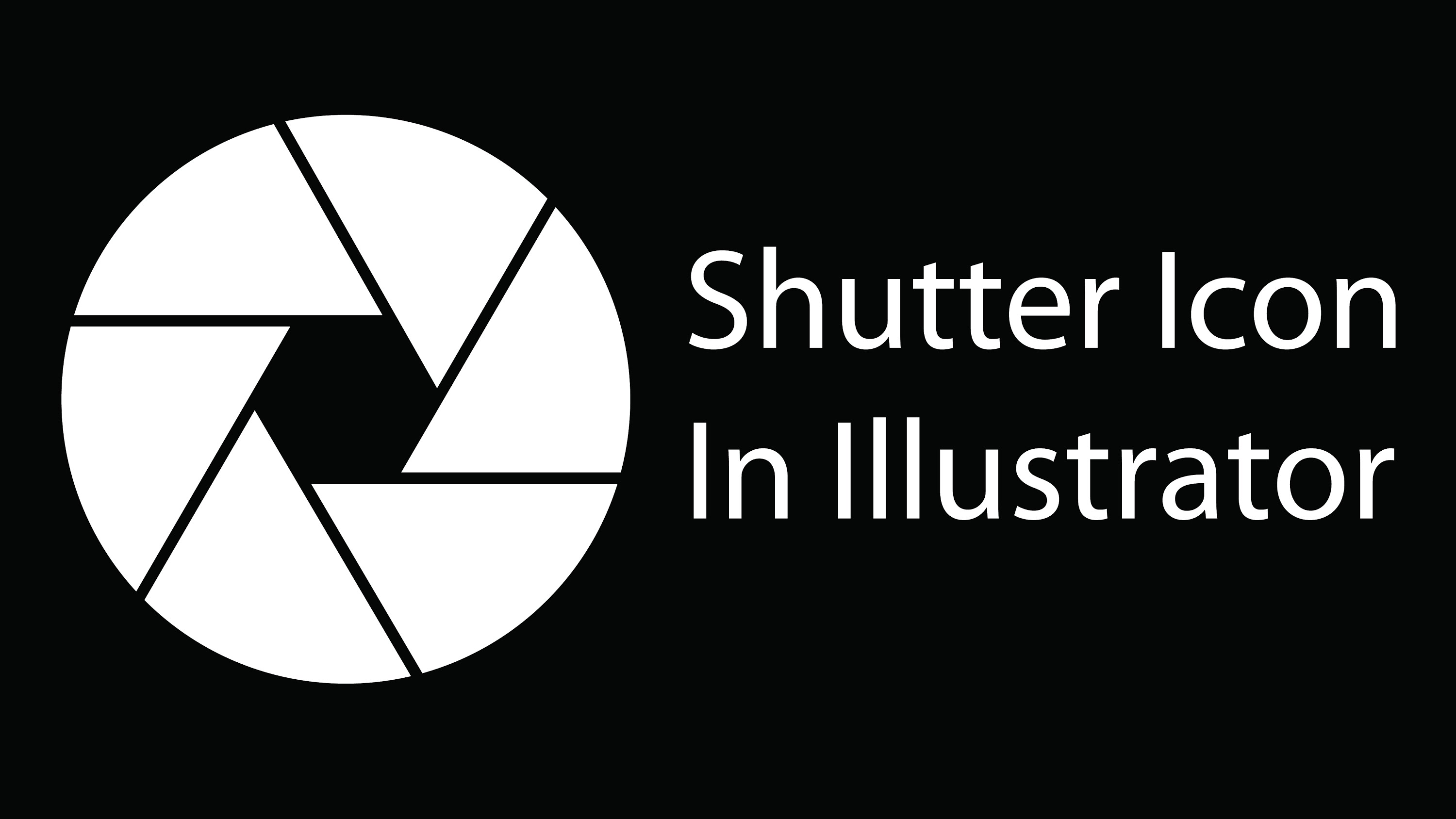 3000x1688 How To Create Vector Shutter Icon In Adobe Illustrator